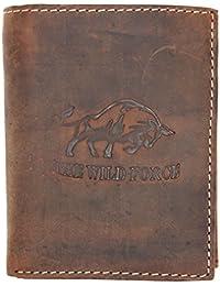 5e2f701d69fe2 Natürliche starke Geldbörse des echtem Leder The wild force mit einem Stier