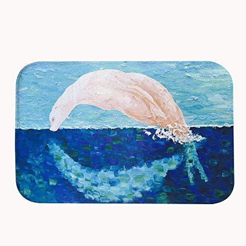 warrantylly Vintage pintura saltando ballena forro polar de Coral decorativo para puerta de entrada alfombra alfombras alfombrillas, #05, 20