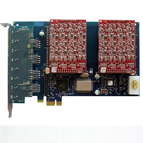 AEX800 - Asterisk Karte mit 8 FXO ,PCI-E Karte,Elastix,Freepbx,Dahdi
