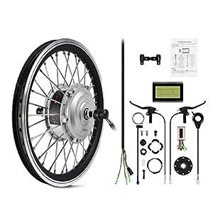 """AFTERPARTZ® e-bici Bicicletta elettrica Kit di conversione Frontmotor con Display LCD 36V 250W (16"""")"""