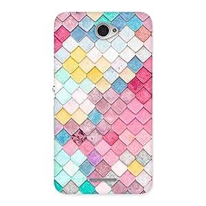 Stylish Colorfull Rocks Multicolor Back Case Cover for Sony Xperia E4