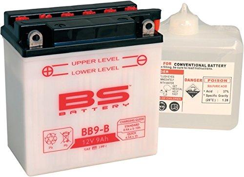 Xfight-Parts Batterie BB9-B 12V 9Ah inkl. Süurepack DIN 50914 138x77x141mm AA-5379623 für Piaggio Fly 50