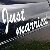 Magnet 'Just married', weiß