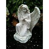 Blanc Figurine Ange Agenouillé Jardin ou maison décoration Figurine Tombe Memorial