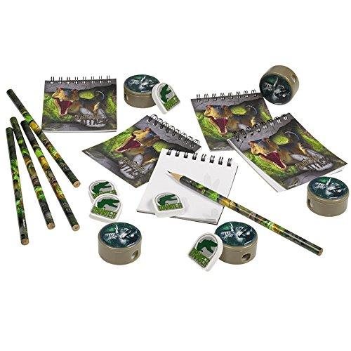 Amscan 9900370 Schreibwaren-Set mit Party-Geschenken, Motiv: Angriff der Dinosaurier