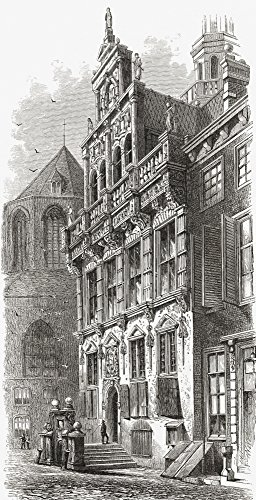 Ken Welsh/Design Pics - Town Hall The Hague The Netherlands In The 19Th Century. from Pictures from Holland by Richard Lovett Published 1887. Photo Print (55,88 x 106,68 cm) -
