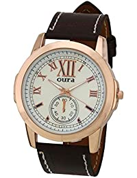 Oura Analouge White Round Dial Men's & Boy's Watch