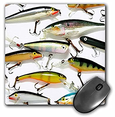 3dRose LLC 8 x 8 x 0.25 Inches Mouse Pad, Fly Fishing Lures (mp_3980_1) by 3D Rose (Home Improvement)