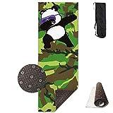 FGRYGF Yoga Mat Wide Multi-Purpose Exercise Mat Anti Slip Mat Comfort Fitness Hip Hop Panda Glasses...