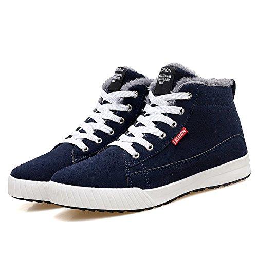 Sneaker, Gracosy Unisex Winter Schuhe Warm Gefütterte Freizeitschuhe Outdoor Schuhe Bequem mit Innenfell für Herren Damen (Hersteller-Größentabelle im Bild Beachten) Blau