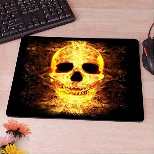 Preisvergleich Produktbild brennender Schädel Totenkopf Mauspad Anti-Rutsch, Wasserfest 220x180 Veredeln Sie Ihren Schreibtisch mit diesem eleganten Mauspad
