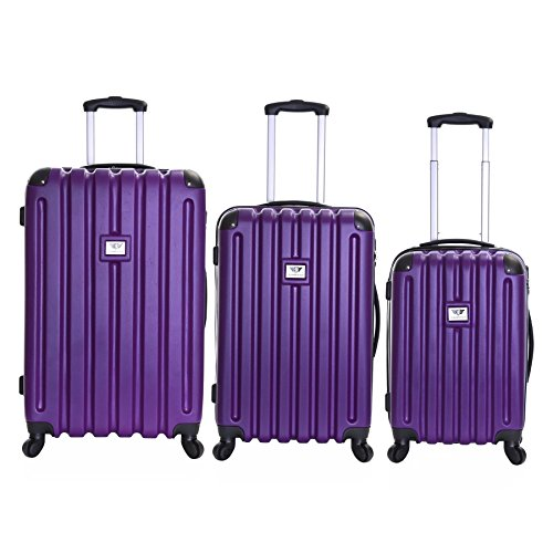 Slimbridge Lydd set di 3 valigie rigide, Melanzana