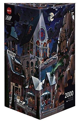 spuzzles 2000 Teile Castle of Horror (Französisch-halloween Puzzle)