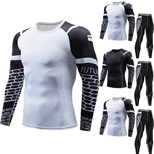 Bodybuilding Vetement Homme Suit,Homme Sport Ensemble, Vêtements à Séchage Rapide, T-Shirt de Remise en Forme Décontracté pour Homme, Séchage Rapide, Fitness Costume Sportif