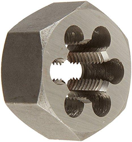 HSS-America DWT Carbon Stahl Sechskant Schneideisen (# 4-101,6-12,7cm-8, M1,6x Ring-M50x 1,5, Standard und Linke Hand), unbeschichtet (hell) Finish, m30 x 1, 1