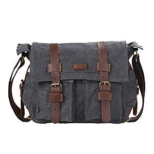 Kattee – Bolsa de tela para ordenador, mochila escolar, estilo clásico, retro y militar