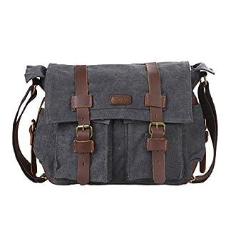 519nudBqsfL. SS324  - Kattee - Bolsa de tela para ordenador, mochila escolar, estilo clásico, retro y militar
