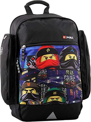 LEGO Bags Schulrucksack Venture, Rucksack nur 750 kg, Schultasche mit Lego Ninjago Motiv Urban, Schul-Rucksack ca. 44 cm, 22.5 Liter
