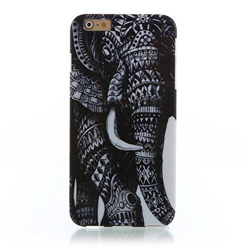 "RE:CRON® iPhone 6 Plus (5,5"") Design Hülle Cover Case – Retro 1930 Muster Elefant"