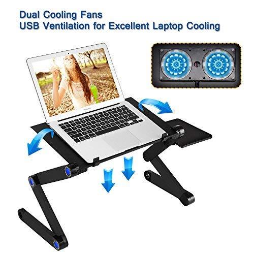 Tragbar Ständer Ergonomischer Laptop Tisch Lap desk 2 fans. -