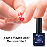 Frenshion 10ml Peel off Base Remover Fast Base Soak-off UV LED Gel Nail Polish 3D Gel Nail Design per Nail Art Salon