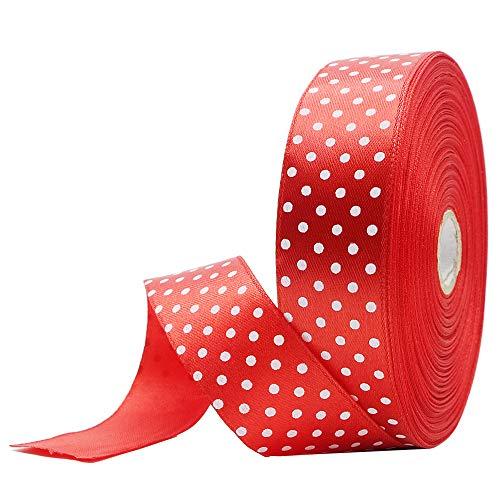 Clashduck rollos cinta tela patrón lunares 1 pulgada