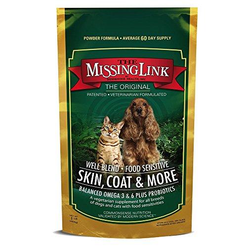 Artikelbild: Die Missing Link-Mischgewebe Lebensmittel empfindliche Haut, Fell & More Nahrungsergänzungsmittel für Hunde und Katzen–1LB