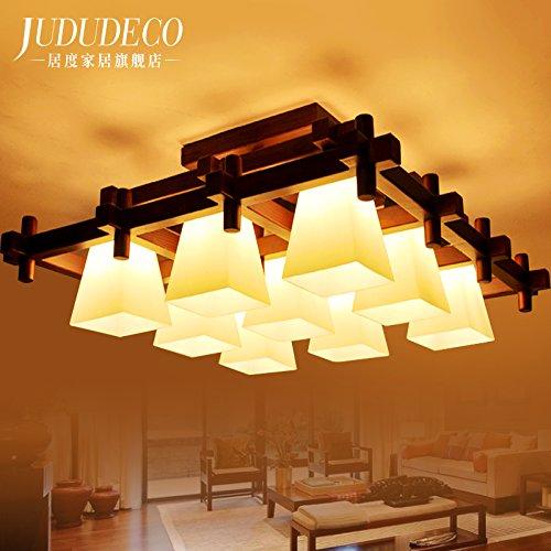 Preisvergleich Produktbild KHSKX Deckenleuchte9 Rechteckige Chinesischen Stil Lampe Wohnzimmer Deckenleuchten Und Atmosphrische Schlafzimmer Esszimmer