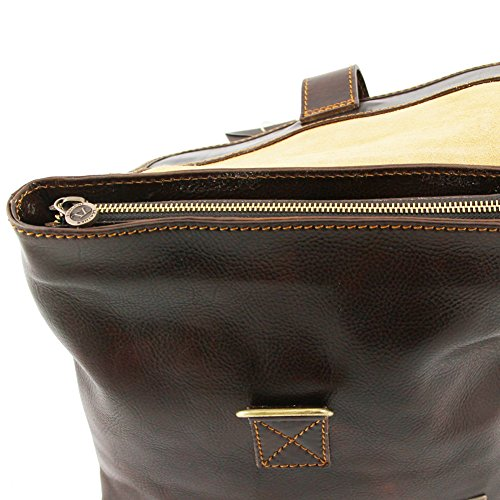 Tuscany Leather - Andrea - Borsello in pelle a tracolla Nero - TL9087/2 Marrone