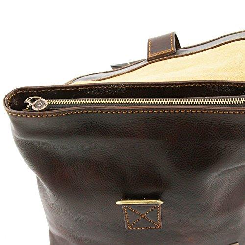 Tuscany Leather - Andrea - Umhängetasche aus Leder unisex Dunkelbraun - TL9087/5 Braun