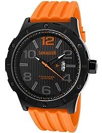 Lancaster Reloj de hombre con banda de silicona Fecha 10 bar ola0479nr/AR/AR