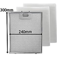 Spares2go Universal Dunstabzugshaube Metall Mesh Fett Filter Für Küche  Abluftventilator (Silber, ...