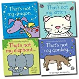 Usborne That's Not My Collection 4 Books Set (Donkey, Elephant, Dragon, Kitten)