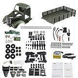 Beatie RC Camion Militaire Truck - JJRC Q60 RC 6WD Télécommande Véhicule de Construction DIY Assembler Voiture Jouet avec Lumières LED pour Enfants Adolescents Adultes