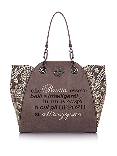 Borsa Shopping | Le Pandorine New Classic | Attraggono | A/I 2016-17 | AI16DAA01930-Flock Brown