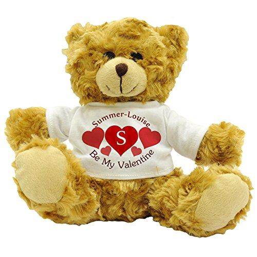 r-Louise - Be My Valentine - Personalisierbares Plüsch-Teddybär, Liebesgefühl, Geschenk (ca. Höhe: 22 cm ()