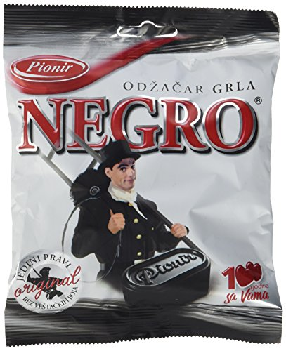 Pionir Gefüllte Hartbonbons Negro mit Lakritzgeschmack, 8er Pack (8 x 100 g)
