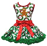 Robe de Noël Homme Pain d'épices pour homme Vert Père Noël Jupe Fille Lot de 1–8Y -  Vert - XL