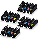 20x XL Tintenpatronen für Canon Pixma IP-7220 IP-7240 IP-7250 IP-7270 Pixma MG-5420 MG-5440 MG-5450 MG-5470 MG-5520 MG-5550 PGI550 CLI551 PGI-550 CLI
