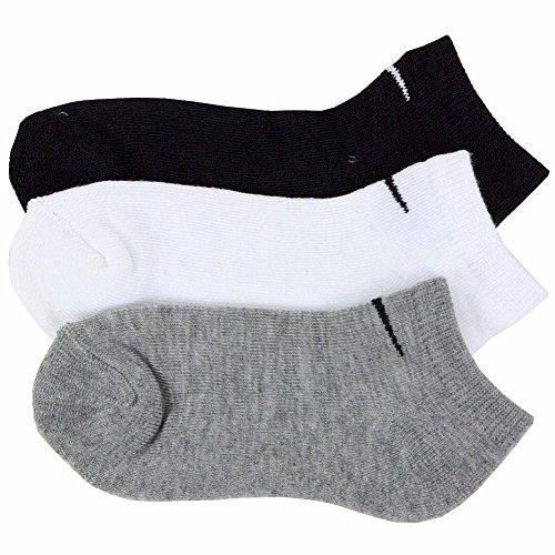 Kinder Nike Swoosh Logo Low Cut Socken (3 Paar) Schwarz, 9-13 Schuh/5-6 Socke (Kleinkinder/Kinder) (Schuhe Cut Socks Low)