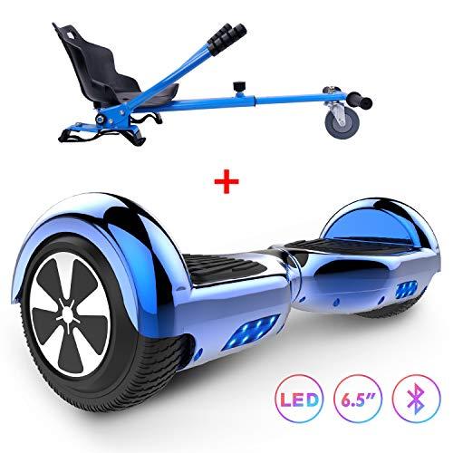 RCB hoverboard Scooter Self Balancing 6.5 pollici Smart elettrico per adulti Bambini-Certificato di sicurezza UL2272 con luci a LED 2 * 350W con hoverkart go-kart