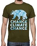 latostadora - Camiseta Changeclimatechange para Hombre Army M