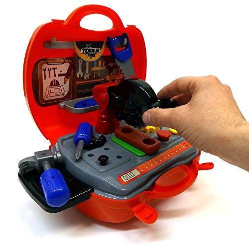 Brigamo 557 - Spielzeug Werkbank to go im Koffer Spielzeugset