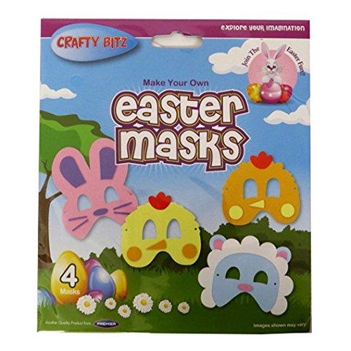 Kinder machen Ihre eigenen Ostermasken - 4er - Story 4k Toy