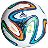 adidas Spielball Brazuca Offical Match Ball, Vicred/Lgfogo/Crared, 5, G73617
