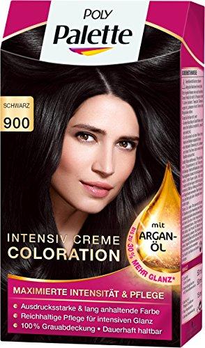 Poly Palette Intensiv Creme Coloration, 900 schwarz, 3er Pack (3 x 1 Stück) -