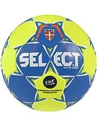 Select máxima de Grip 2.0–Balón de balonmano, color blau/Gelb/Weiß, tamaño 3