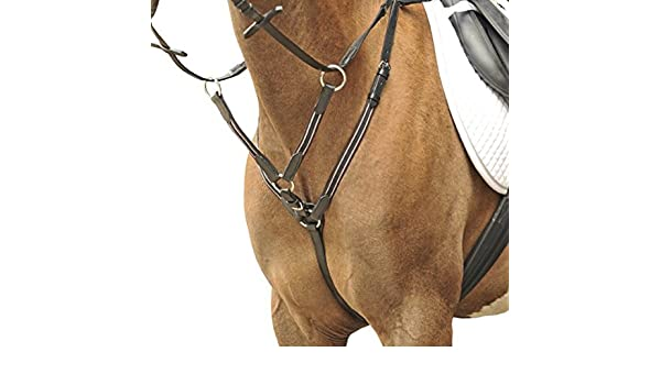 HKM 4000315620739 Breastplate with Martingale Fittings Colour Silber9100 blackWarmblood