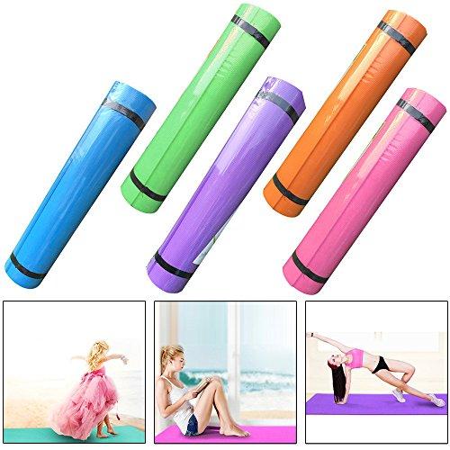 Fami Yoga Style,4MM/5MM épais EVA Durable tapis de yoga, anti-dérapant Exercice Pad Fitness (Bleu, 173 x 61 x 0.6cm) (épaisseur:4MM)