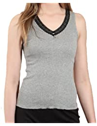 Heatguard Ladies Sleeveless Thermal Lace Trim Vest Underwear Winter Baselayer